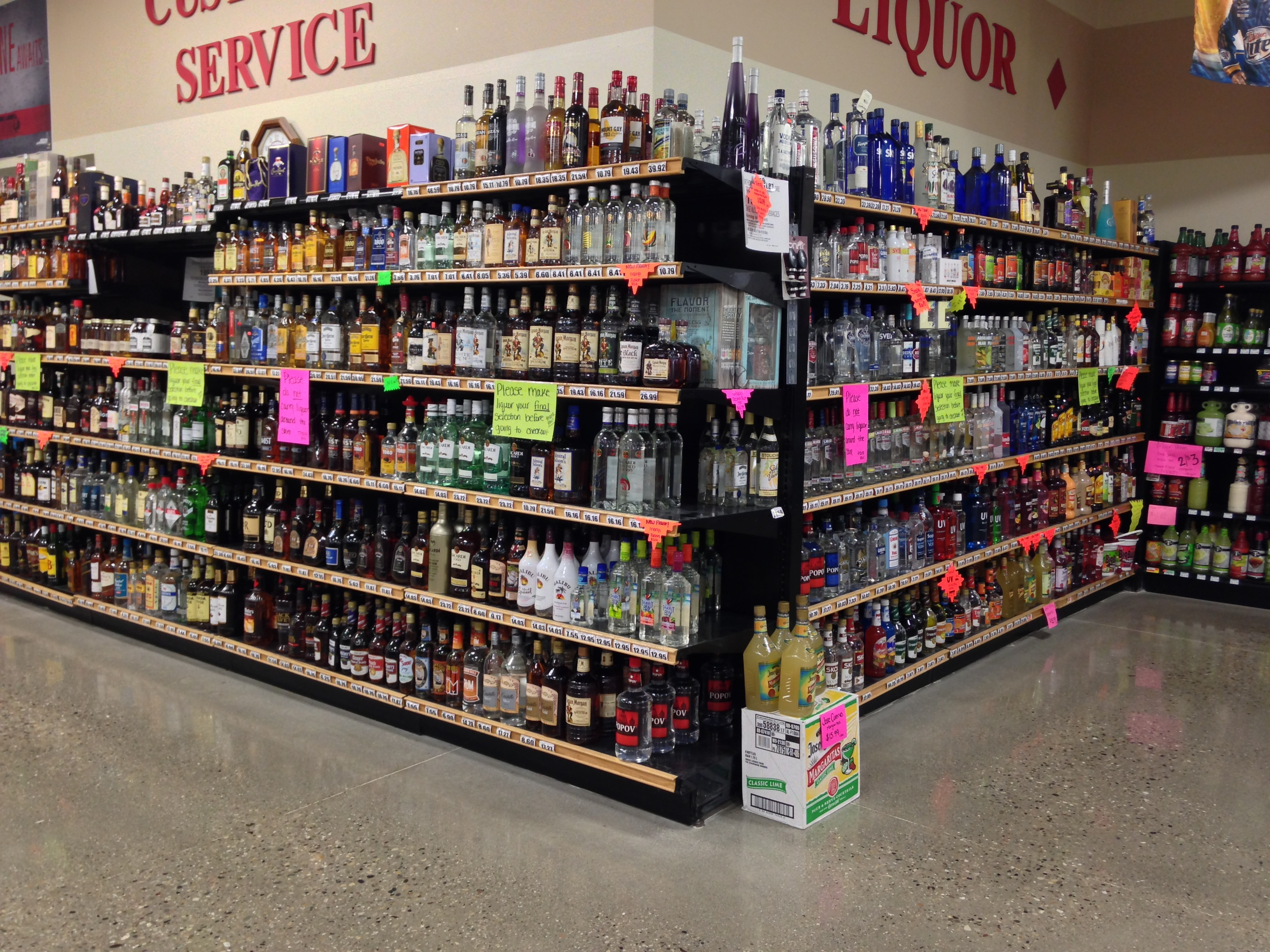 Liquor: We are a state liquor store and have the largest selection of liquor  in the White Lake Area.