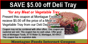 $5 off Deli Tray